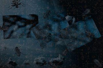 Compositie in blauw van Susan Hol