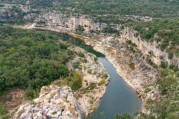 Gorges de l'Ardèche van bovenaf van Martijn Joosse