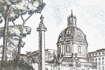 Trajanus Forum Rome van Gunter Kirsch