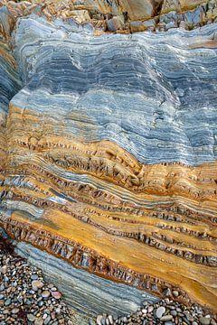 Een detail van een rotswand - Playa del Silencio - 9 van Danny Budts