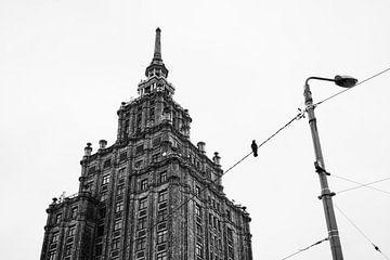 Sowjetische Architektur & ein Vogel von Niels Eric Fotografie