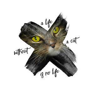 Graphic Art British Shorthair Cat