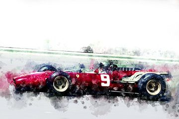 Lorenzo Bandini, Ferrari 1966 von Theodor Decker
