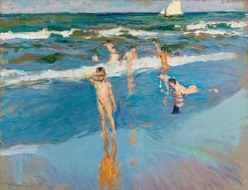 Kinder im Meer, Valencia Strand, Joaquín Sorolla