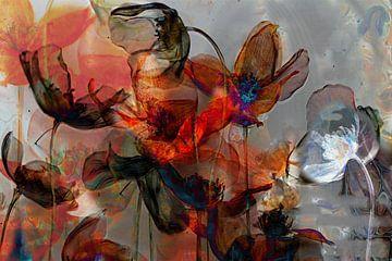flowerpower, klaprozen van Kirsti's Kunst