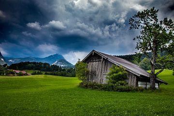 Berglandschaft in Schwoich, Österreich in Nordtirol. Alpen. von Arjan Boer