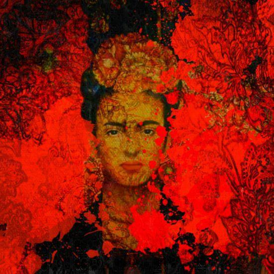 Motiv Porträt Frida in Orange