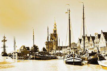 Hoorn Haven Hollande du Nord Pays-Bas Or sur Hendrik-Jan Kornelis