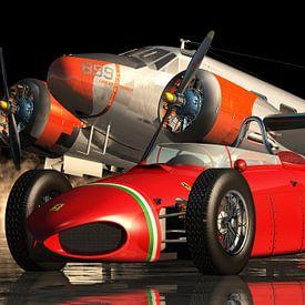 Ferrari 156 Shark Nose - Une belle Ferrari qui était souvent utilisée sur les circuits de course sur Jan Keteleer