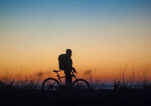 Bike at sea van