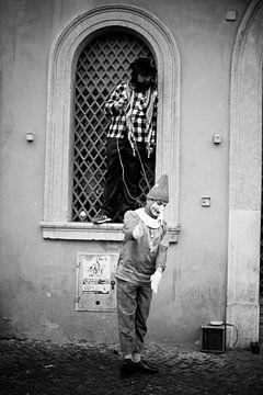 Straßenkünstler in Rom von Michiel de Bruin