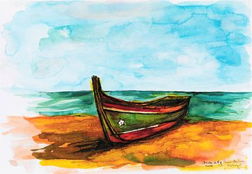 Portugeese Vissersboot. van Ineke de Rijk