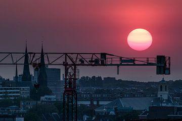City Sunset Den Haag van Meliza  Lopez