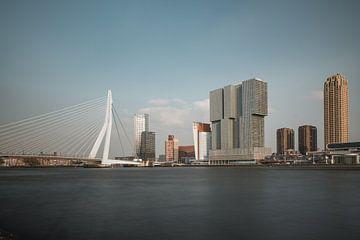 Skyline von Rotterdam mit Erasmus-Brücke von Lorena Cirstea