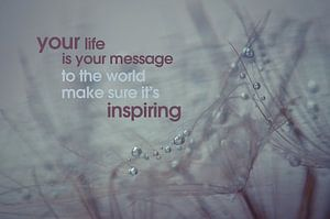 Quote: Your life is your message to the world....