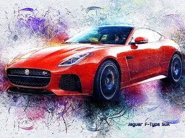 Jaguar van Printed Artings