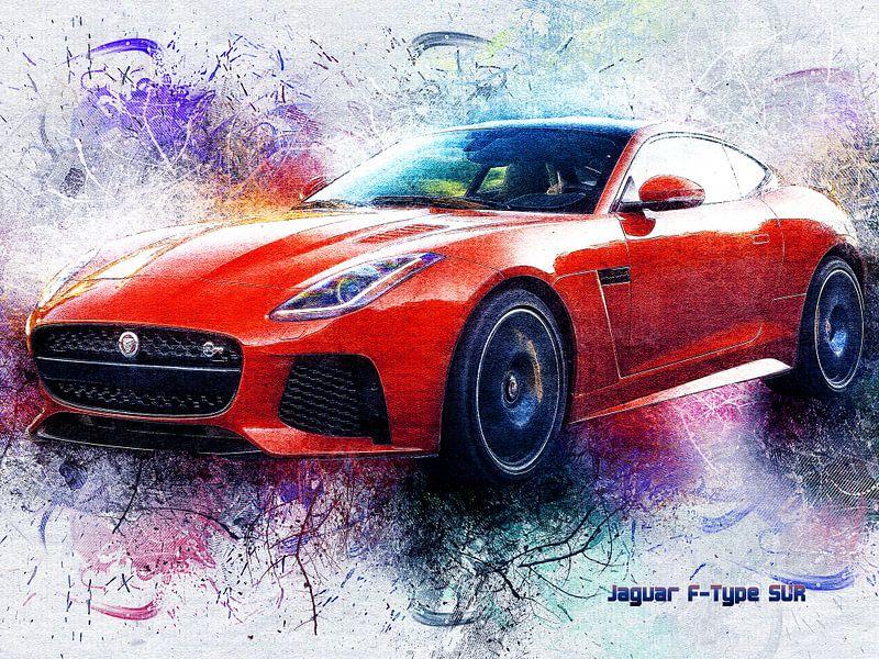 Jaguar von Printed Artings