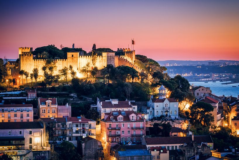 Lisbon - Sao Jorge Castle van Alexander Voss