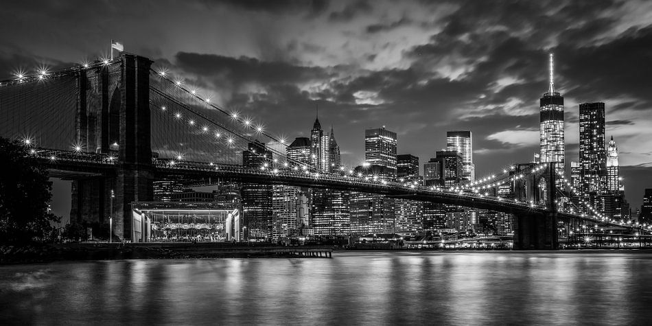 Brooklyn bridge in New York van Roy Poots