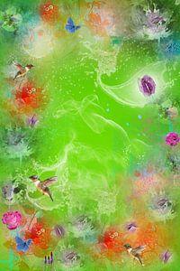Kunstzinnige Bloemen droom . van Saskia Dingemans