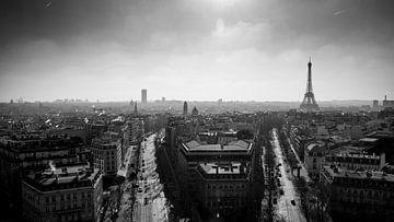 Parijs panorama vanaf Arc de Triomphe von Pieter Wolthoorn