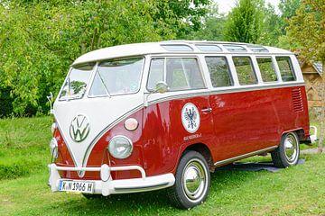 Volkswagen Transporter T2 (génération T1) van rétro vintage sur Sjoerd van der Wal