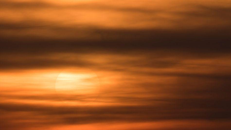 Zonsondergang van Erik Veldkamp