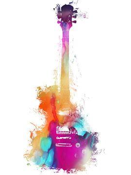 Gitarre 37 Musikkunst #Gitarre #Musik von JBJart Justyna Jaszke