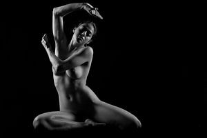Artistiek naakt yoga
