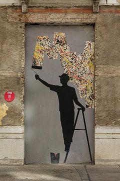 straatkunst malaga van Frans Versteden