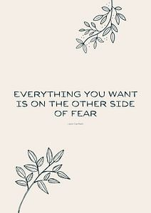 Everything you want is on the other side of fear van A new language