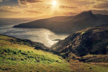 Madeira Ponta de Sao Lourenco Coucher de soleil sur Jean Claude Castor