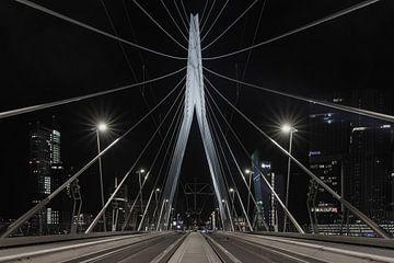 Le pont Erasmus à Rotterdam d'un point de vue unique sur MS Fotografie | Marc van der Stelt