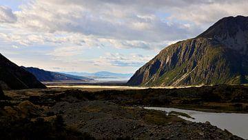 Mt. Cook Road - Schreibtisch-Hintergrund von Maupacadabra Fotografie