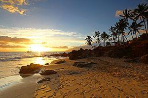 Zonsondergang op Hawaii van
