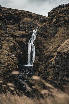 IJslandse waterval I van Colin van Wijk
