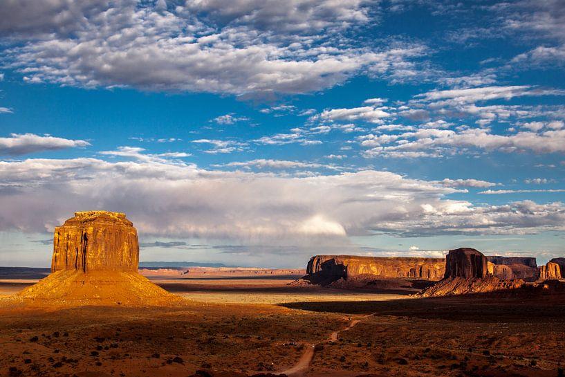 Merrick Butte in Monument Valley van Stefan Verheij