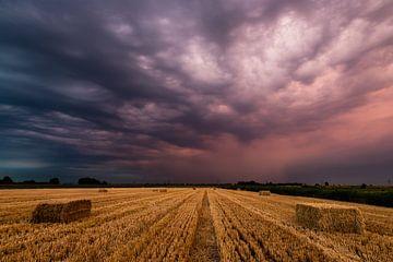Onweersbui bij zonsopkomst van René Groenendijk