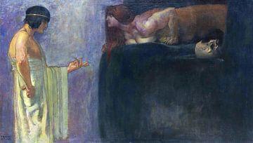 Ödipus löst das Rätsel der Sphinx, FRANZ VON STUCK, 1891 von Atelier Liesjes