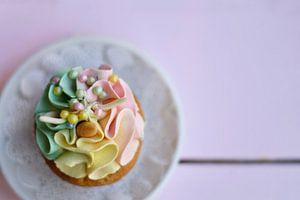 Cupcake 'eenhoorn' van Marieke de Jong