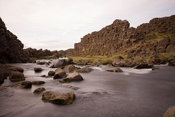 Vallei van Thingvellir van Stephan van Krimpen
