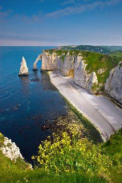 l'Aiguille in Etretat, Normandie, Frankreich von Henk Meijer Photography