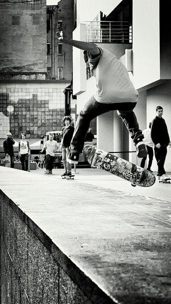 skateboard junkie van Rik Engelgeer