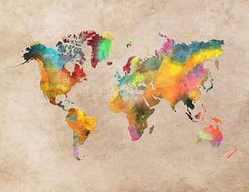 Weltkarte 41 #Karte #Weltkarte von JBJart Justyna Jaszke