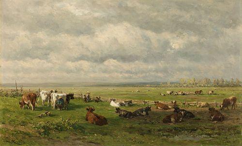 Weidelandschaft mit Rindern – Willem Roelofs von Rebel Ontwerp