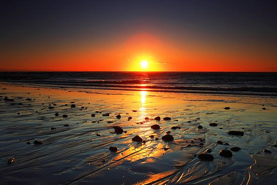 Zonsondergang op Sylt