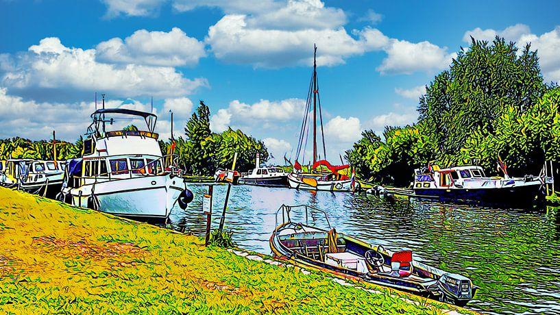 Erholungshafen Alkmaardermeer von Digital Art Nederland