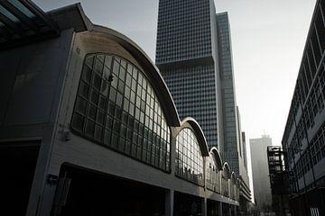 Zwart-wit beeld van Rotterdam van Simone Meijer