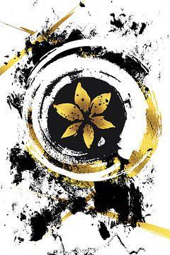 Abstrakte Malerei Nr. 39 | gold von Melanie Viola