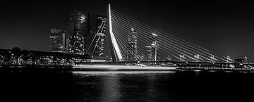 Erasmusbrug bij nacht von Dave van Dokkum